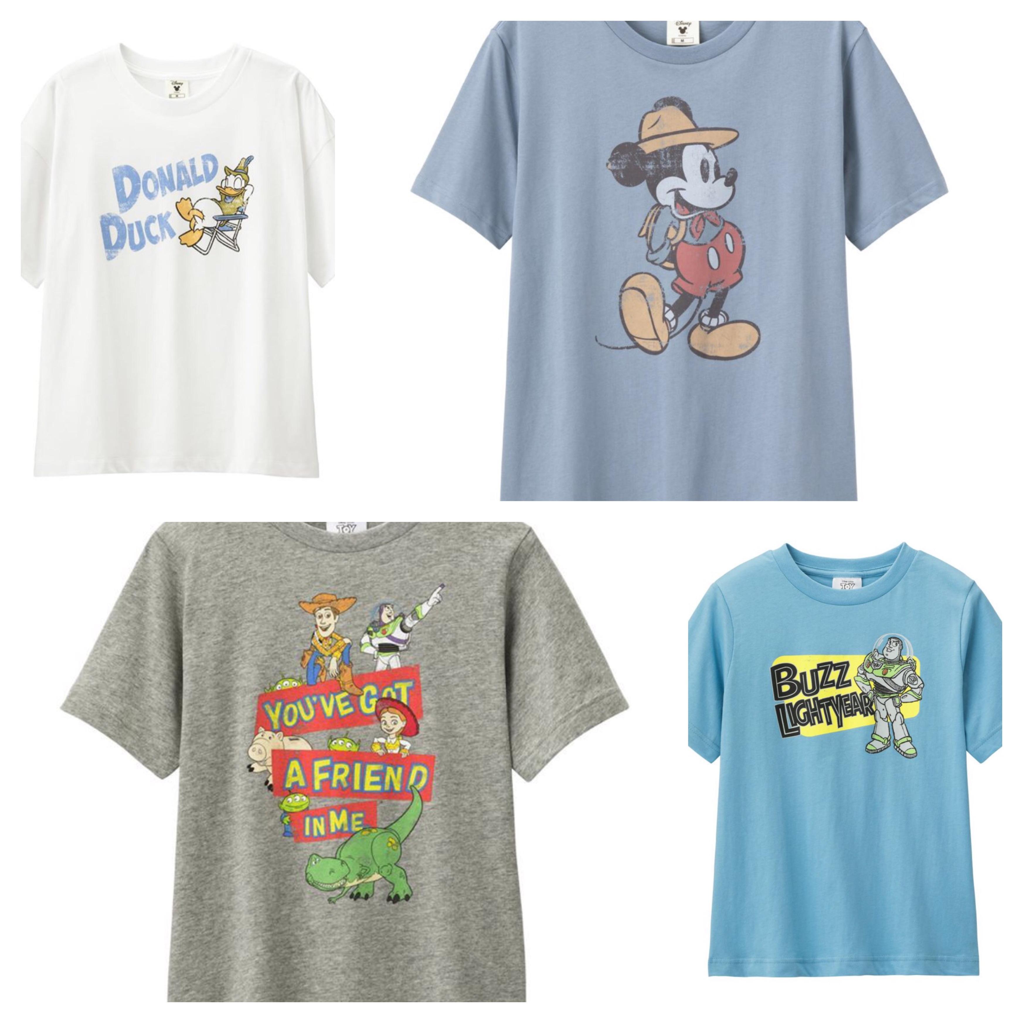 GUからディズニー・ピクサーTシャツが5月27日発売